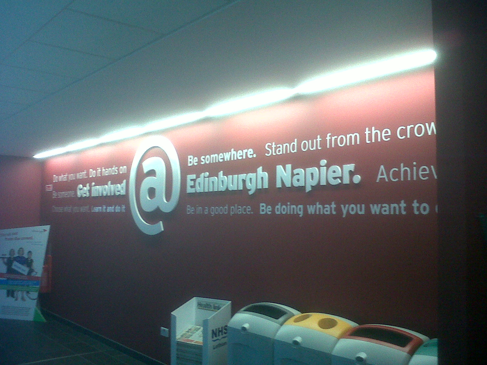 Edinburgh Napier Contour Cut Text