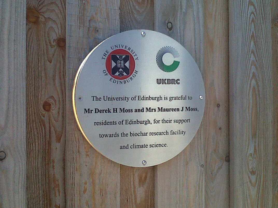 University of Edinburgh Stainless Plaque