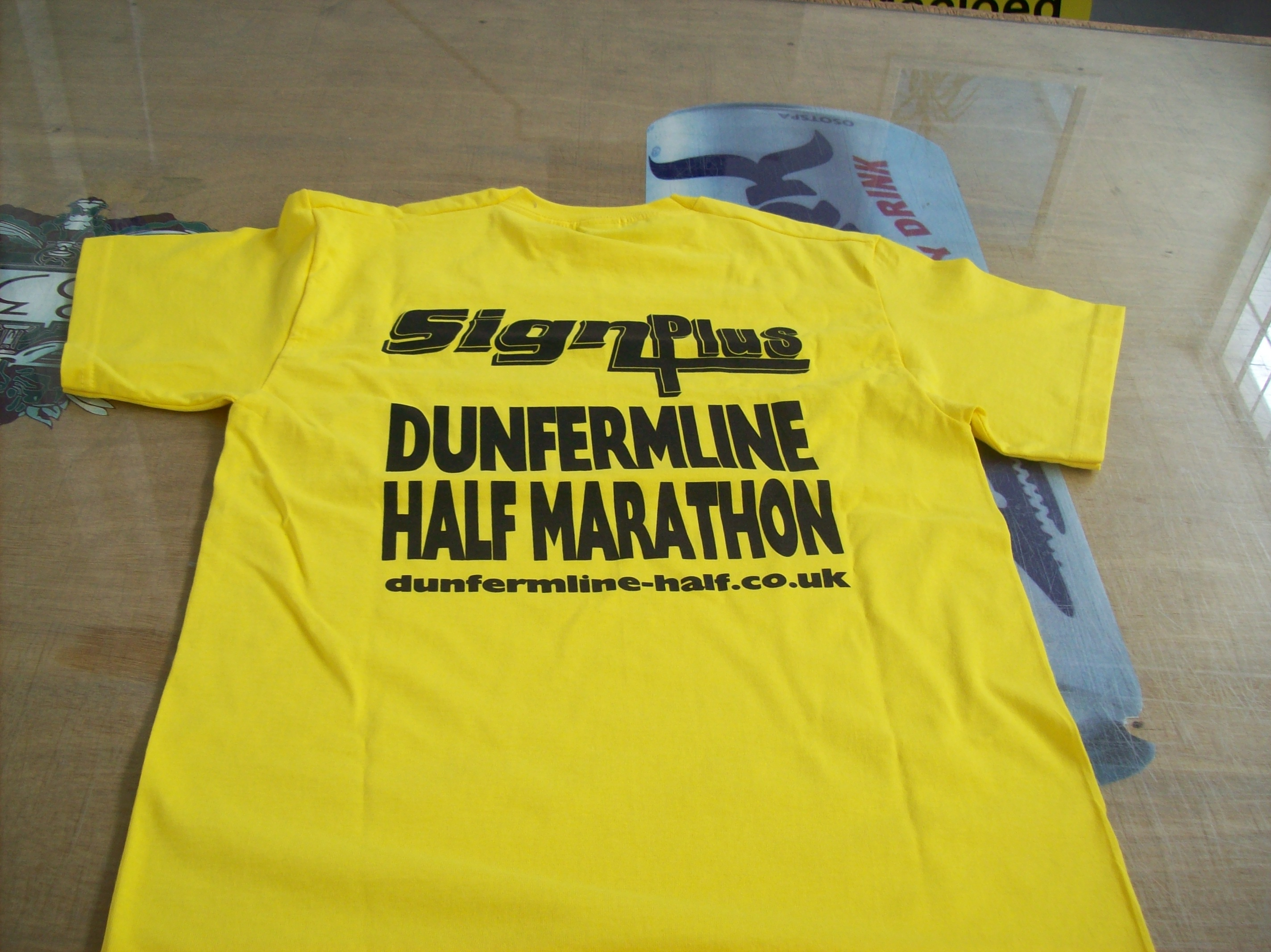 Screen Printed Marathon Tshirts Rear