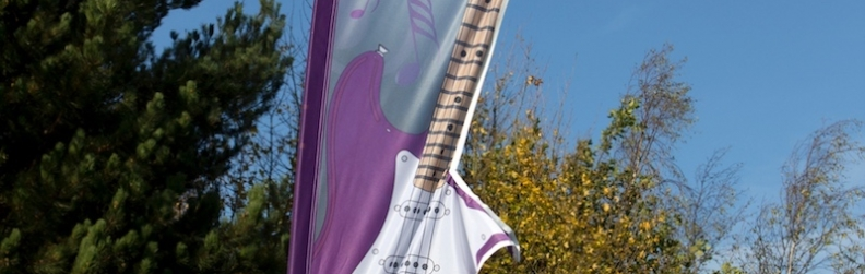 Guitar Exhibition Banner - Sign Plus